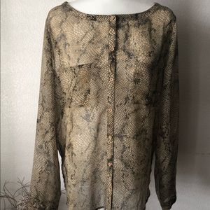 Urban Outfitters Ecote Snakeskin Blouse